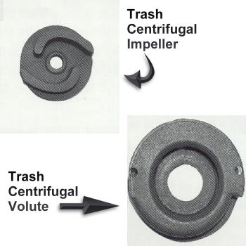 centrifugal trash pumps - impeller and volute what do they look like